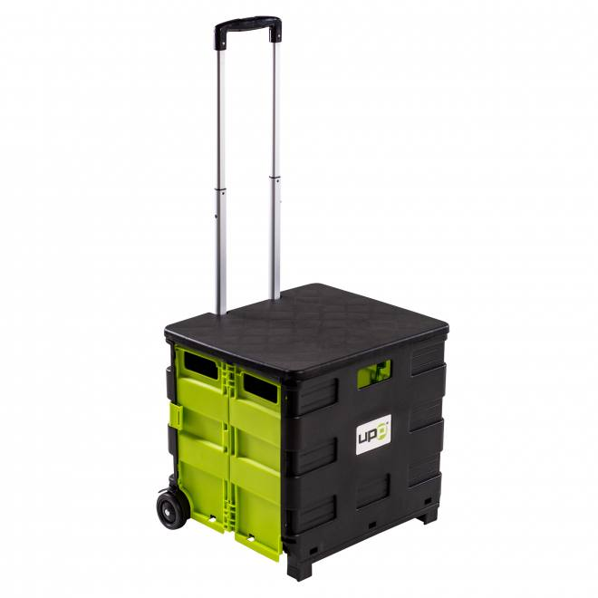 UPP Foldable Shopping Trolley with Seat