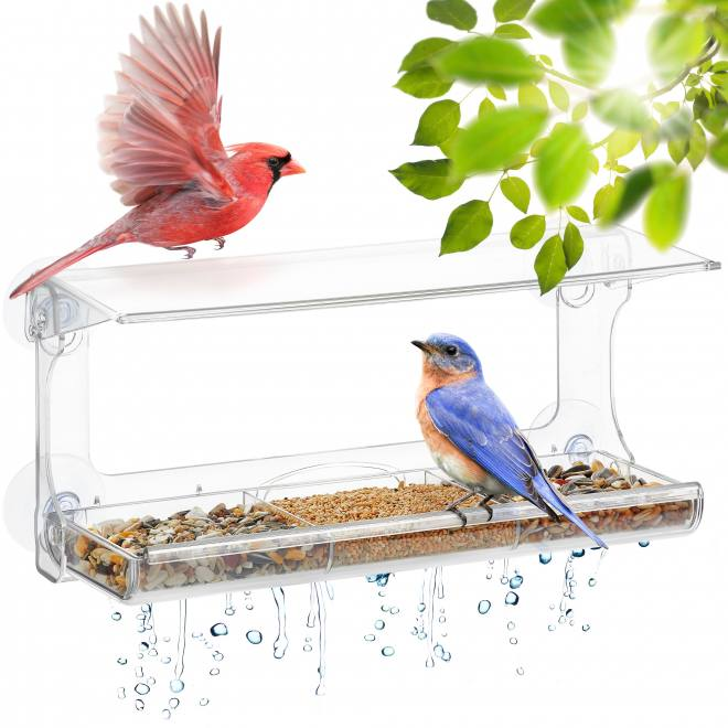 UPP Window bird feeder house